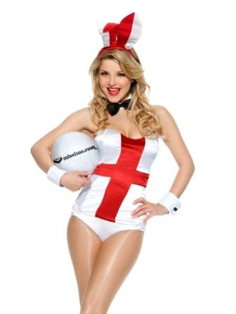 England Playboy Bunny outfit for World Cup 2010